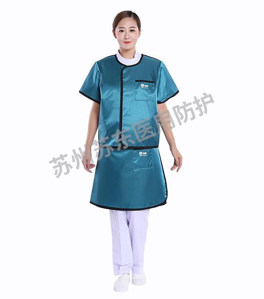 菱形湖綠分體短袖手術鉛衣
