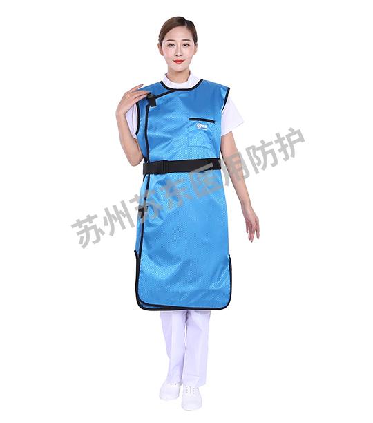 菱形天蓝连体无袖进口铅衣
