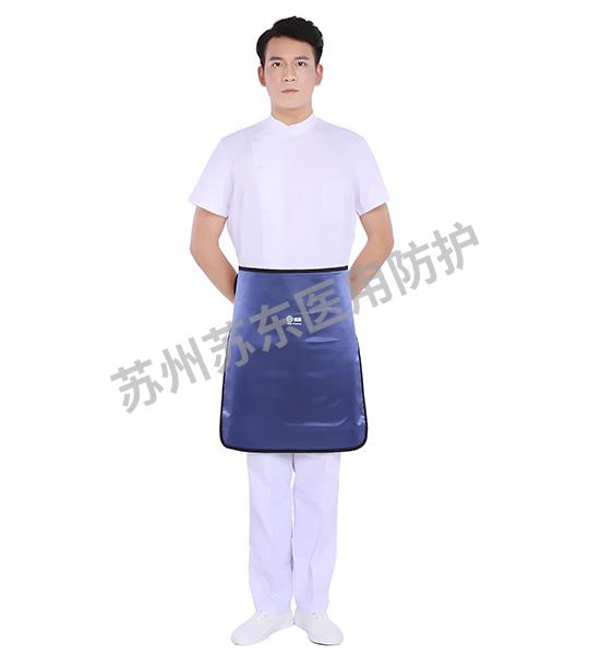菱形蓝短铅围裙
