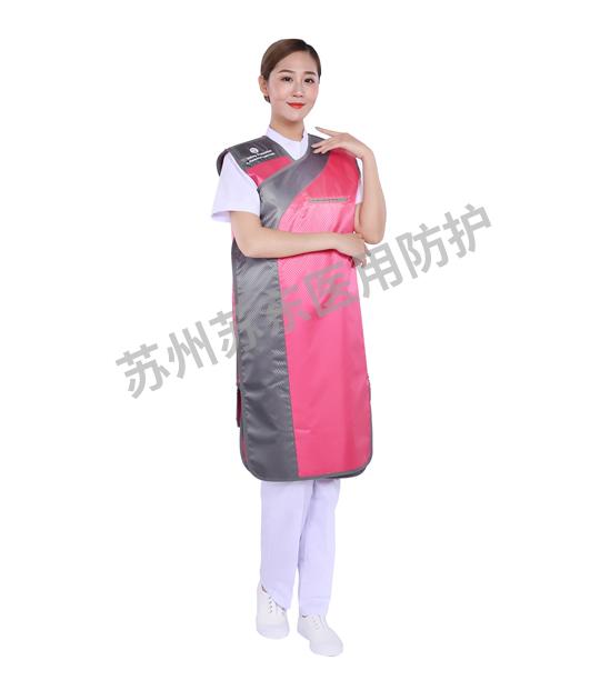 連體無袖防護鉛衣-側面